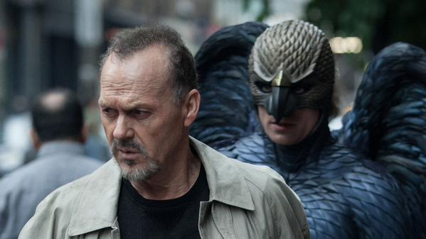 look it's michael keaton remember him he played batman in the 80s now he's birdman isnt that an incredible play on words